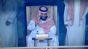 """شاهد فرحة محمد بن سلمان بتأهل السعودية لكأس العالم 2018.. ومغردون: """"وجه السعد"""""""