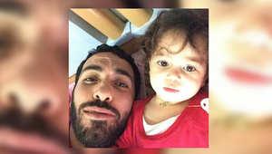 صورة أخرى لأبوتريكة مع ابنته بطريقة السلفي