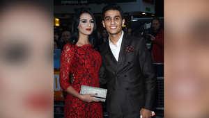 محمد عساف وخطيبته لينا قيشاوي في مهرجان لندن السينمائي