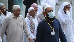 يضعون الأقنعة خلال موسم الحج الماضي في السعودية