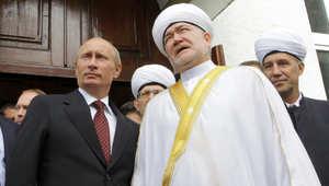 مفتي روسيا لوفد هيئة يرأسها القرضاوي: بوتين يريد الاستفادة من الإسلام لتطوير اقتصاد روسيا