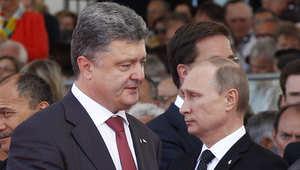 صورة تجمع بين الرئيس الأوكراني الجديد ونظيره الروسي