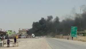 صورة لدخان يتصاعد من موقع انفجار