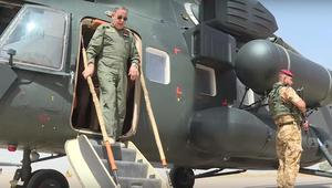 """بالفيديو.. العبيدي ينفذ غارة جوية """"مؤثرة"""" ضد """"داعش"""" في الفلوجة: هدية للشعب العراقي"""