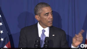 أوباما أثناء كلمته