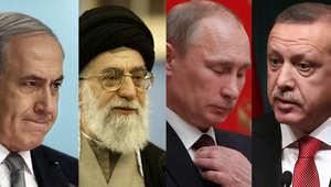 خامئني نتنياهو بوتين وأردوغان