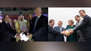 """زعماء دول الشمال يحاكون صورة """"البلورة"""".. من يحكم العالم؟"""