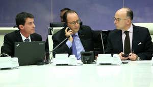 هولاند في اجتماع أمني حول هجمات باريس