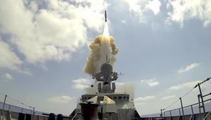 """سفن حربية روسية تطلق 3 صواريخ """"كاليبر"""" على أهداف في سوريا"""