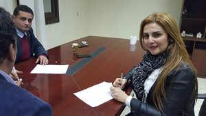 """رانيا محمود ياسين توقع عقد """"التوك شو"""" المسائي"""