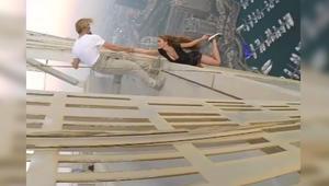 شرطة دبي تستدعي العارضة الروسية فيكي أودنتكوفا بعد تدليها من برج كيان