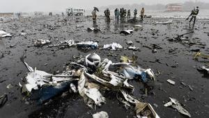 """محللون: سرعة الرياح قبل سقوط طائرة """"فلاي دبي"""" وصلت 100 كلم.. والطيار حلق بدوائر فوق المطار"""