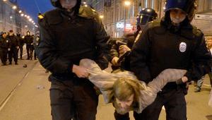 """روسيا: 290 معتقلا باحتجاجات """"عيد ميلاد"""" بوتين"""