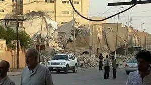 مسجد النبي شيث في الموصل بعد تدميره من قبل داعش