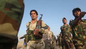 متطوعون شيعة يتلقون تدريبات عسكرية
