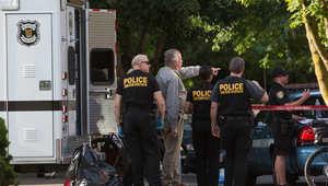 عناصر الشرطة في موقع الهجوم