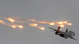 صورة ارشيفية لطائرة سوخوي الروسية