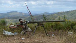 مقاتل من المعارضة السورية في اللاذقية