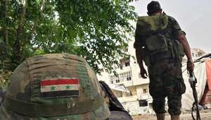 صورة لجندي سوري في حمص مطلع الشهر الجاري