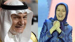 زعيمة المعارضة الإيرانية في الخارج مريم رجوي ورئيس جهاز الإستخبارات السعودية الأسبق تركي الفيصل