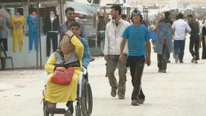 لاجئون بمخيم الزعتري