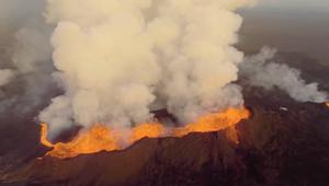 مشاهد مذهلة لبركان آيسلندا التقطتها طائرة بدون طيار