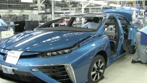 تويوتا تبدأ بإنتاج سيارتها الأولى العاملة بخلايا الطاقة