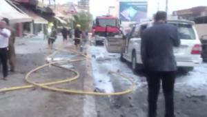 مشاهد من الانفجار الذي استهدف القنصلية الأمريكية في إربيل