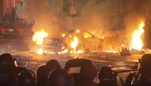 بالفيديو.. آثار المظاهرات العنيفة في بالتيمور