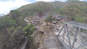 لقطات من طائرة بدون طيار ترصد الدمار في نيبال حيث لا يمكن وصول البشر