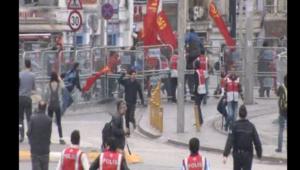 بالفيديو.. مظاهرات في تركيا بمناسبة عيد العمال