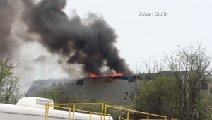 فيديو جديد يظهر لحظة اشتعال النيران بقطار أمتراك بعد انقلابه