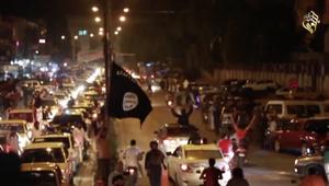أنصار داعش في الموصل يحتفلون بسقوط الرمادي