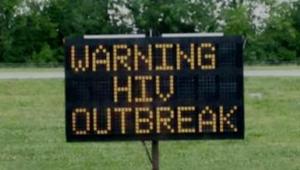 لوحات إحذر الايدز تثير الجدل في إنديانا