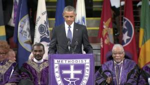 أوباما يشارك في تشييع ضحايا الهجوم على الكنيسة