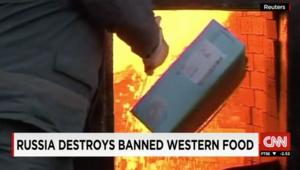 روسيا تحرق مواد غذائية من الدول الغربية وسط مطالب بمنحها للفقراء