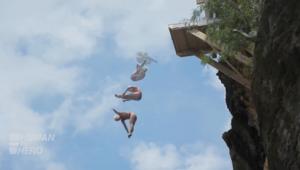 بالفيديو.. الغطس من المرتفعات.. قفزة في مسيرة رياضية شابة