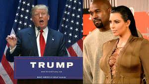 """بالفيديو.. """"مناظرة رئاسية"""" بين زوج كيم كرداشيان ودونالد ترامب"""