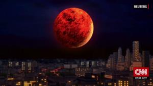 """""""خسوف القمر"""" و""""قمر الدم"""" و""""القمر الخارق"""" ستحدث جميعها مساء اليوم"""