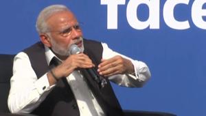 """شاهد.. سر بكاء رئيس وزراء الهند خلال مقابلة مع مؤسس """"فيسبوك"""""""