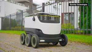 روبوت جديد يوصل مشترياتك من المتاجر إلى باب منزلك