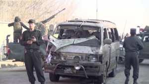 بالفيديو: طالبان تعلن مسؤوليتها عن تفجير سيارة بالقرب من مطار كابول