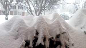 بالفيديو: كمية الثلوج المتساقطة خلال العاصفة على مدار يوم ونصف بتقنية الفاصل الزمني في واشنطن