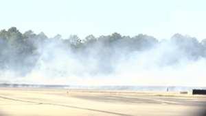 بالفيديو: مقتل 3 أشخاص في تحطم طائرة صغيرة بولاية جورجيا الأمريكية