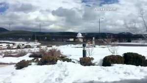 بتقنية الفاصل الزمني.. شاهد كيف تتراكم الثلوج في أريزونا