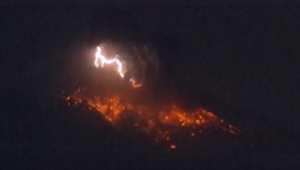 شاهد.. اللحظات الأولى لثوران بركان ساكوراجيما الياباني
