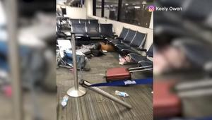 فوضى بعد إطلاق النار في مطار بفلوريدا بلحظات