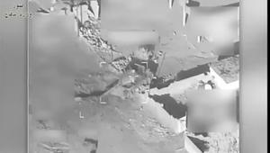 شاهد.. لحظة استهداف مواقع داعش بالموصل