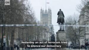 ما قالته ماي بخطابها المؤثر عقب هجوم البرلمان