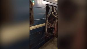 لحظات الرعب بين ركاب المترو بعد انفجار سان بطرسبرغ